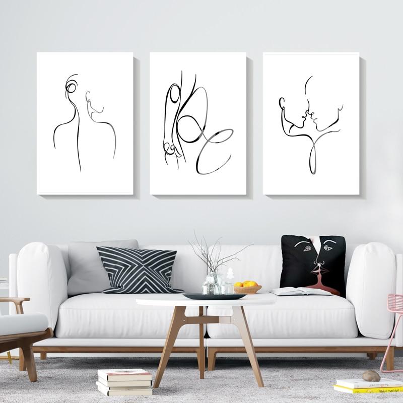 Современный абстрактный постер на холсте, Женская настенная живопись, скандинавские постеры и принты, настенные картины для гостиной, домашний декор