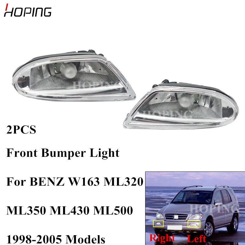 2pcs Left & Right Fog Light Lamp For benz W163 ML320 ML350 ML430 ...