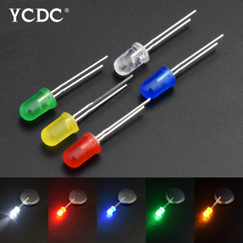 F3/F5 3mm/5mm Red Green Yellow White Color Assorted LED Diode Light Emitting 5Colors*100PCS=500PCS / 1Color=100pcs DIY kit