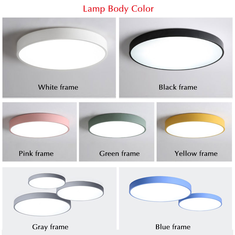 Image 4 - Modern LED Chandelier For Living Room Bedroom Lustre Round Ceiling Chandelier Lighting Fixture Lampara Techo Black&White Lamps-in Chandeliers from Lights & Lighting