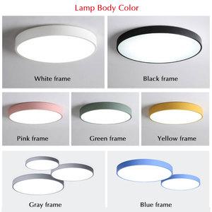 Image 4 - Modern LED Chandelier For Living Room Bedroom Lustre Round Ceiling Chandelier Lighting Fixture Lampara Techo Black&White Lamps