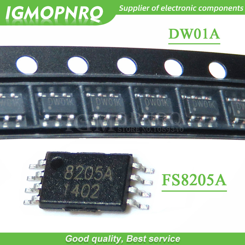 20pcs DW01+ 8205A Combination SOP23-6 Battery Protection Chip Each 10pcs New Original Free Shipping
