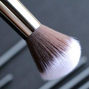 Image 4 - Sywinasสีดำชุดแปรงแต่งหน้า12PcsคุณภาพสูงSynthetic Hair Contour Eyeashadow Make Upชุดแปรง