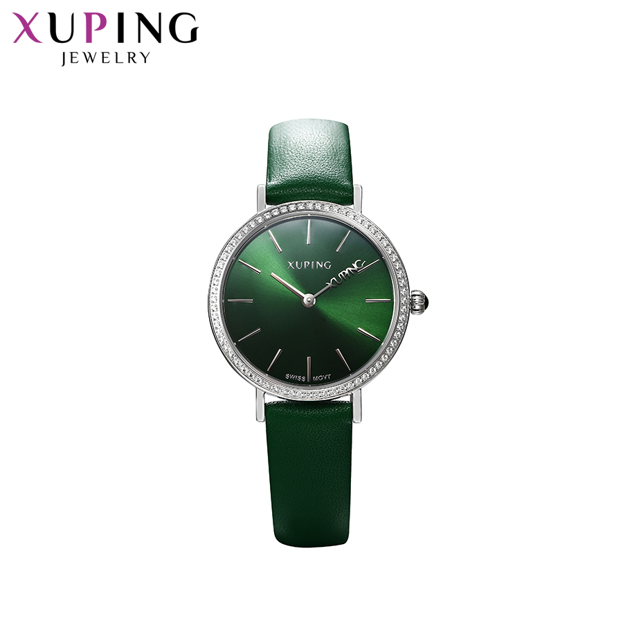 Xuping White Trendy Synthetic Cubic Zirconia Watch Women Round Shaped Romantic Lovers Stainless Steel Jewelry Exquisit Watch-6