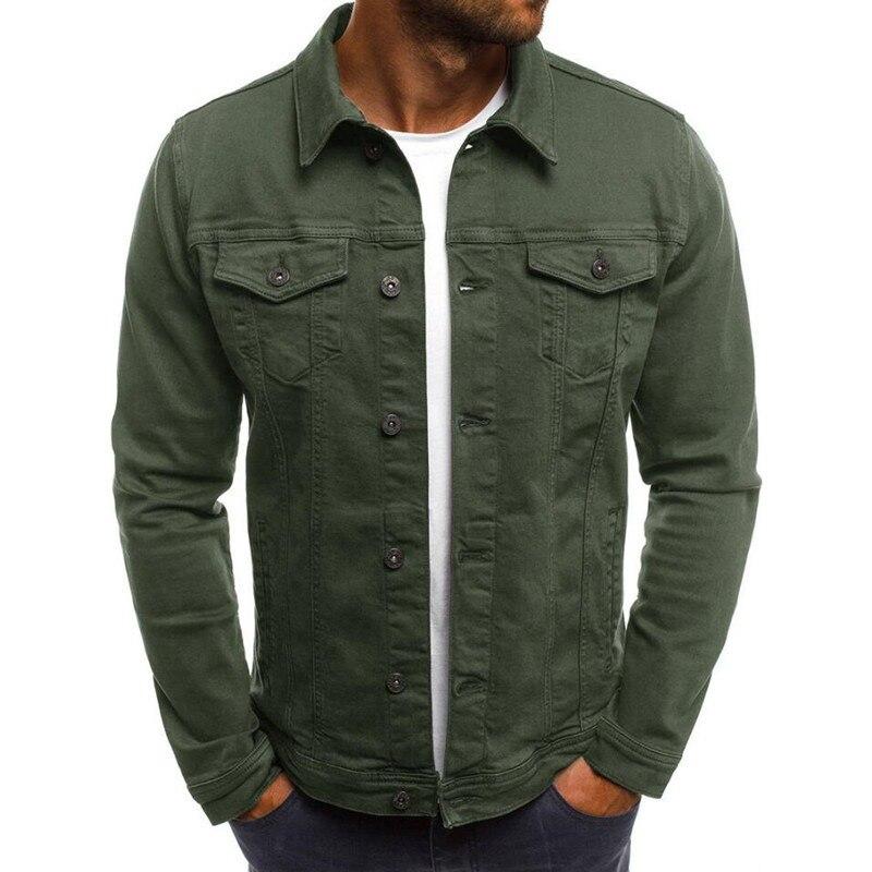 Size S-3XL Spring Autumn New Style Boutique Pure Cotton Fashion Blue Black Mens Casual Denim Jacket Slim Cowboy Jean Coat Male