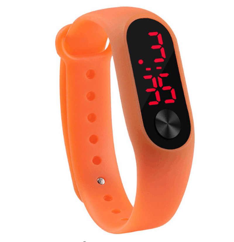 Relógio de pulso eletrônico do esporte do diodo emissor de luz do relógio de pulso com presentes