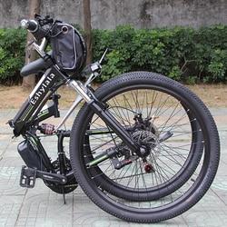 Nowy produkt akumulator litowy 26 cal 1000W 48V 13AH rower elektryczny 21 prędkość rower górski tanie cena składane e rower na sprzedaż|Rowery elektryczne|   -