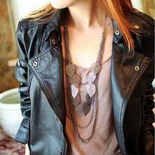 Женское многослойное ожерелье из акриловой смолы винтажное в