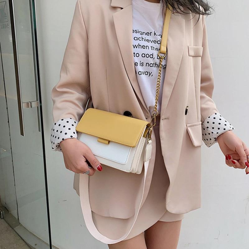 Image 4 - Brand Leather Crossbody Bags For Women 2020 Chain Shoulder  Messenger Bag Lady Travel Purses Mini Handbags Cross Body Bag  FashionShoulder Bags