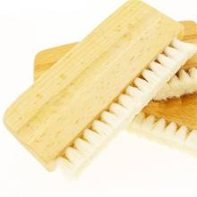 Brosse de nettoyage pour disque vinyle LP, antistatique, poils de chèvre, manche en bois, nettoyeur de brosse pour lecteur Cd, platine