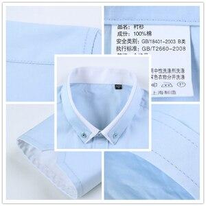 Image 5 - Browon новые хлопковые мужские рубашки Повседневная рубашка с длинными рукавами и однотонные Цвет классического кроя размера плюс мужские рубашки
