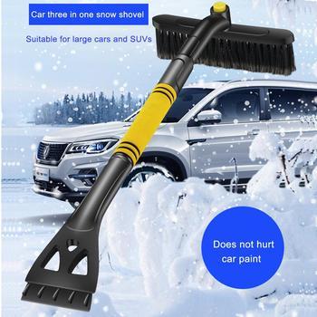 Pop Pop 3 w 1 skrobak do śniegu samochodowego narzędzie do rozmrażania pojazdu łatwe do przenoszenia z obracającą się szczotka bez uszkadzania farby Pop tanie i dobre opinie CN (pochodzenie) 64cm 24cm iron pipe PVC PP SKROBACZKA DO LODU 500g 11cm vehicle mounted three in one snow shovel about 240 * 110 * 640mm