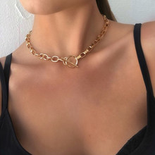 Collier à bascule EN or pour femmes, boîte EN or, cercles liés mixtes, minimaliste, ras du cou, bijoux à la mode