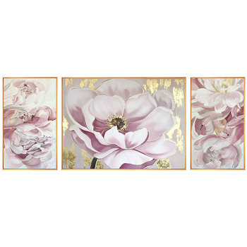 Flowers hand-painted Oil Painting Decorative Painting The Living Room Triple Villa Entrance Corridor Wall Paintings Painting Bed