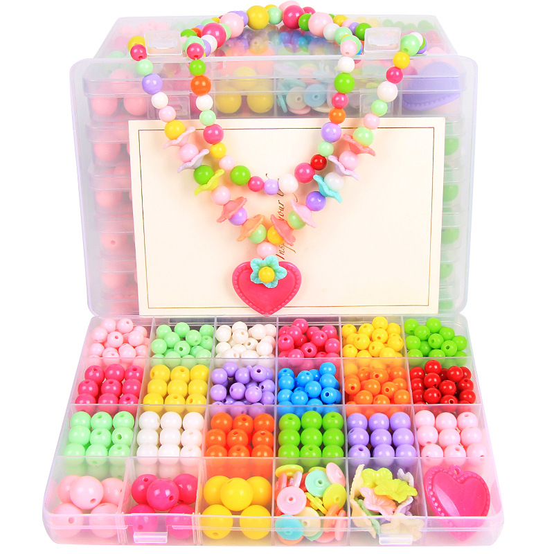 24 Grid DIY Handmade Beads Toys For Children With Accessory Set Girl Weaving Bracelet Jewelry Making Toys Creative Children Gift