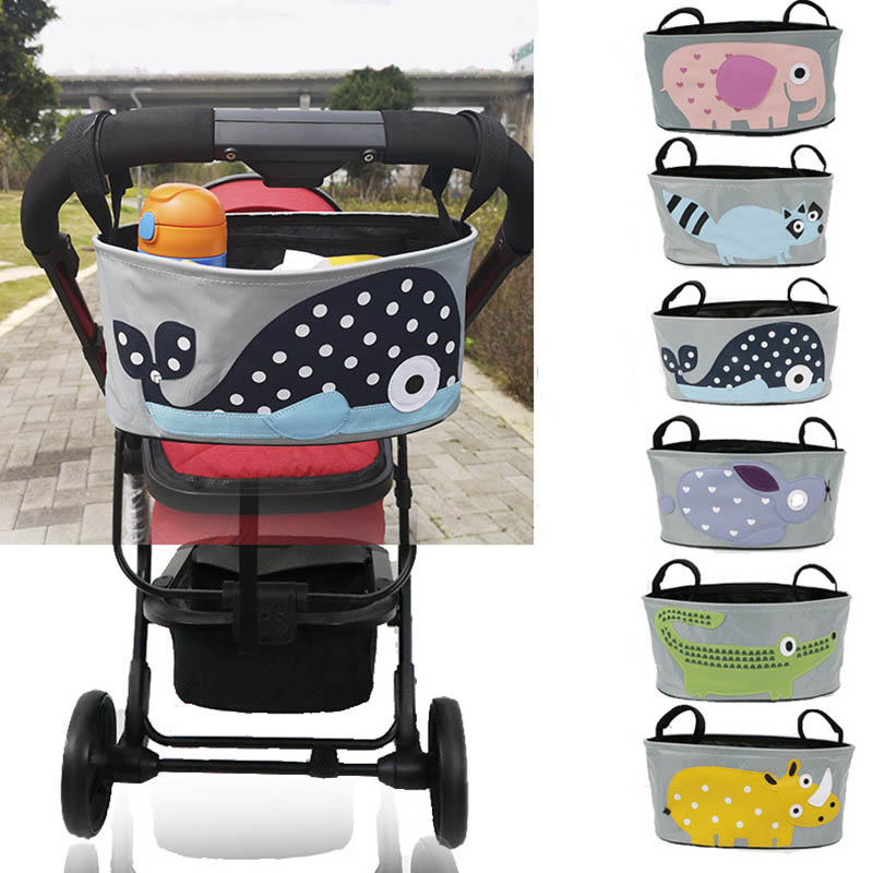 Baby Stroller Organizer Bag Baby Stroller Accessories Hook Baby Carriage Waterproof Bag Travel Nappy