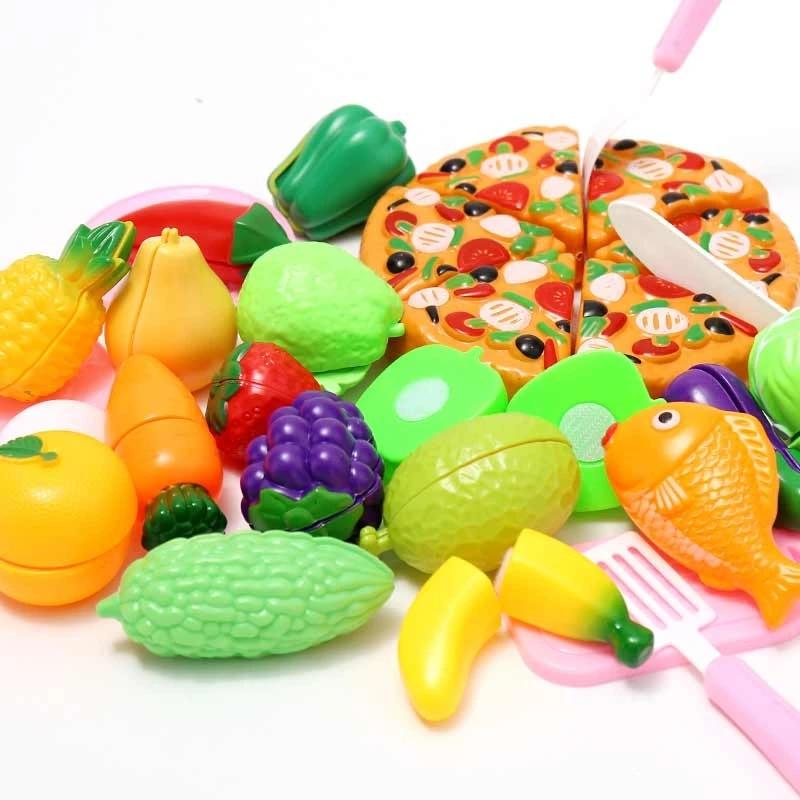 Fablcrew Lot de 6Pcs Couper Pizza Jeu Dimitation Coupe Fruits L/égumes Jeu Enfants Kid Jouet /éducatif a decouper de Cuisine Pizza pour Les Enfant a la Maternelle /école