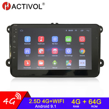 2 din android rádio do carro multimídia gps para vw/volkswagen skoda octavia golf 5 6 touran passat b6 polo jetta 2din auto rádio