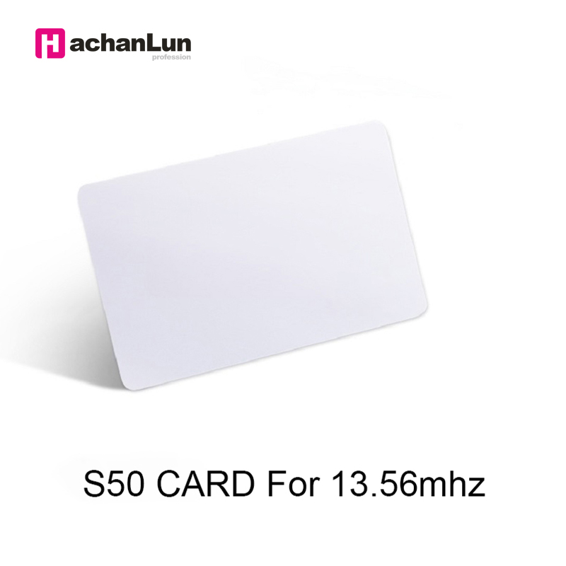 50 / Batch 13.56Mhz RFID For Access Control Attendance Sensor IC Smart Card Label MF S50 ISO14443A Access Badge Token