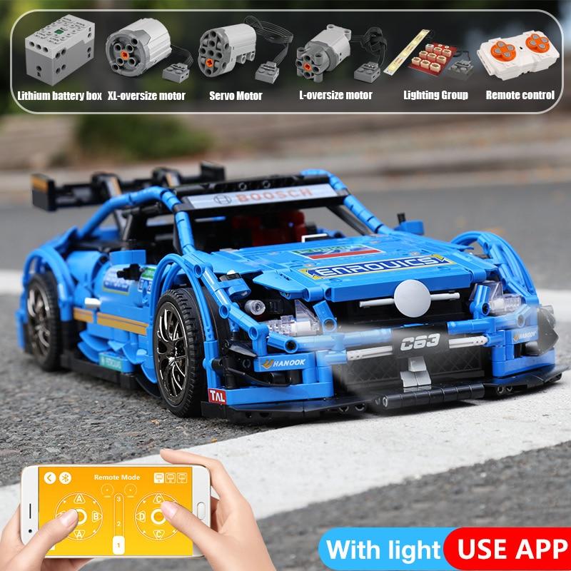 Yeshin 20005 DHL Technic Serie Compatibile Con MOC 6687 Blu Velocità Auto Set di Blocchi di Costruzione di Mattoni App di Controllo RC Auto Modello-in Blocchi da Giocattoli e hobby su  Gruppo 2
