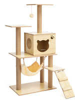 Furniture Board Cat Climbing Frame Wood Scratch Litter Jumping Toy s Products for Pets