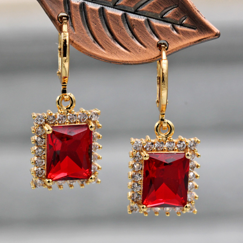 Hc5e0df6f262145cb85b4163eb1c33092i - Trendy Vintage Drop Earrings For Women Gold Filled  Red Green Pink Lavender Zircon Earrings Gold  Earring Wedding  Jewelry