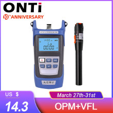 Onti Glasvezel Tool Kit Fc/Sc Connector Vfl Opm Optische Power Meter Laser Bron En Visual Fault Locator 1/10/20/30 Mw 5-30Km(China)