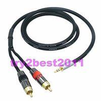ĐHG/EMS 10 Bộ 3.5mm cắm stereo TRS để 2X RCA TRUYỀN HÌNH Nam cắm đơn TS Canare l-4E6S cáp-C1