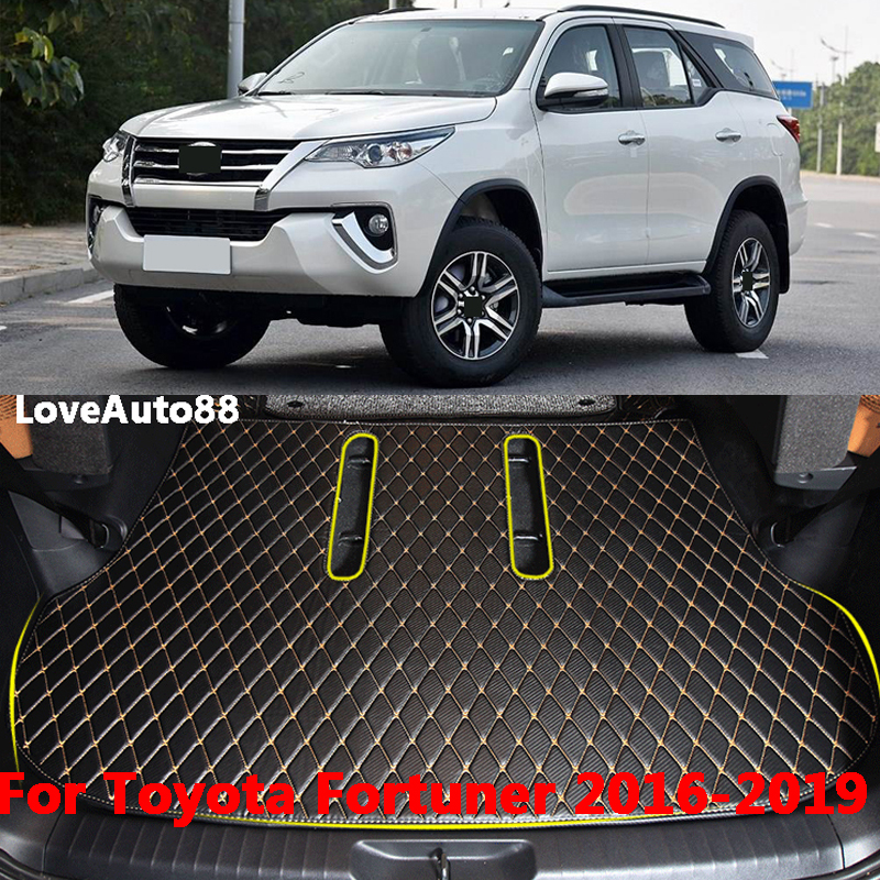 Car Trunk Mats Cargo Liner Car Pad Full Cover Case Carpet Rugs For Toyota Fortuner 2016 2017 2018 2019 Car Accessories