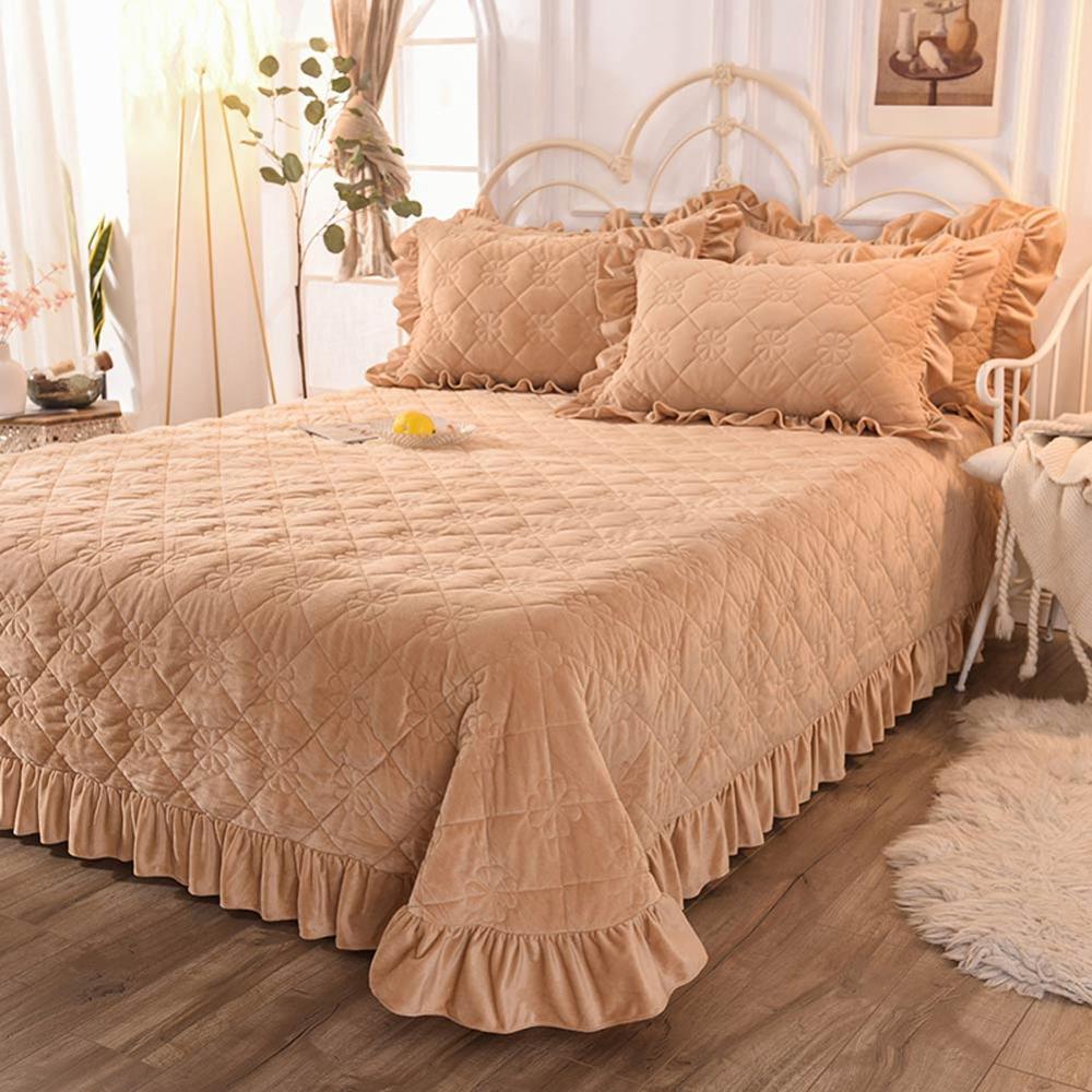 Svetanya Thick Bedspread Sheet Bedcover Coverlet (or Pillowcase) Super King Queen Single