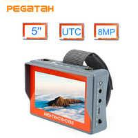 5 cal 5MP CCTV Tester kamery AHD tester monitora TVI CVI CVBS przenośny Tester kamery monitoringu dodatkowy monitor nieuczciwych praktyk handlowych PTZ tester kamery