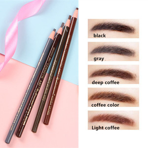 1Pcs Fashion Women Professional Makeup Eyebrow Pencil Waterproof Brown Eye Brow Tattoo Dye Tint Pen Liner Long Lasting Eyebrow