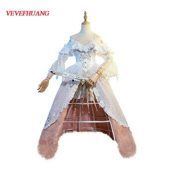 VEVEFHUANG Identity V Madame Deficit Marie 2nd Anniversary Bella Donna Skin Dress Elegant Uniform Cosplay Costume Xmas Halloween 1