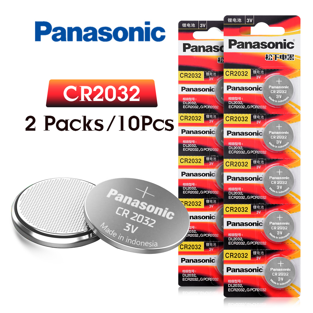 10pcs original brand new battery for PANASONIC cr2032 3v button cell coin batteries for watch computer cr 2032 For Toys