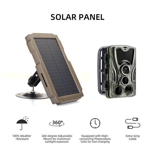 5000mA  12V Hunting Camera Solar Panel  Power Supply Charger Battery for Suntek 9V  HC900 HC801 HC700 HC550 HC300 Series 1