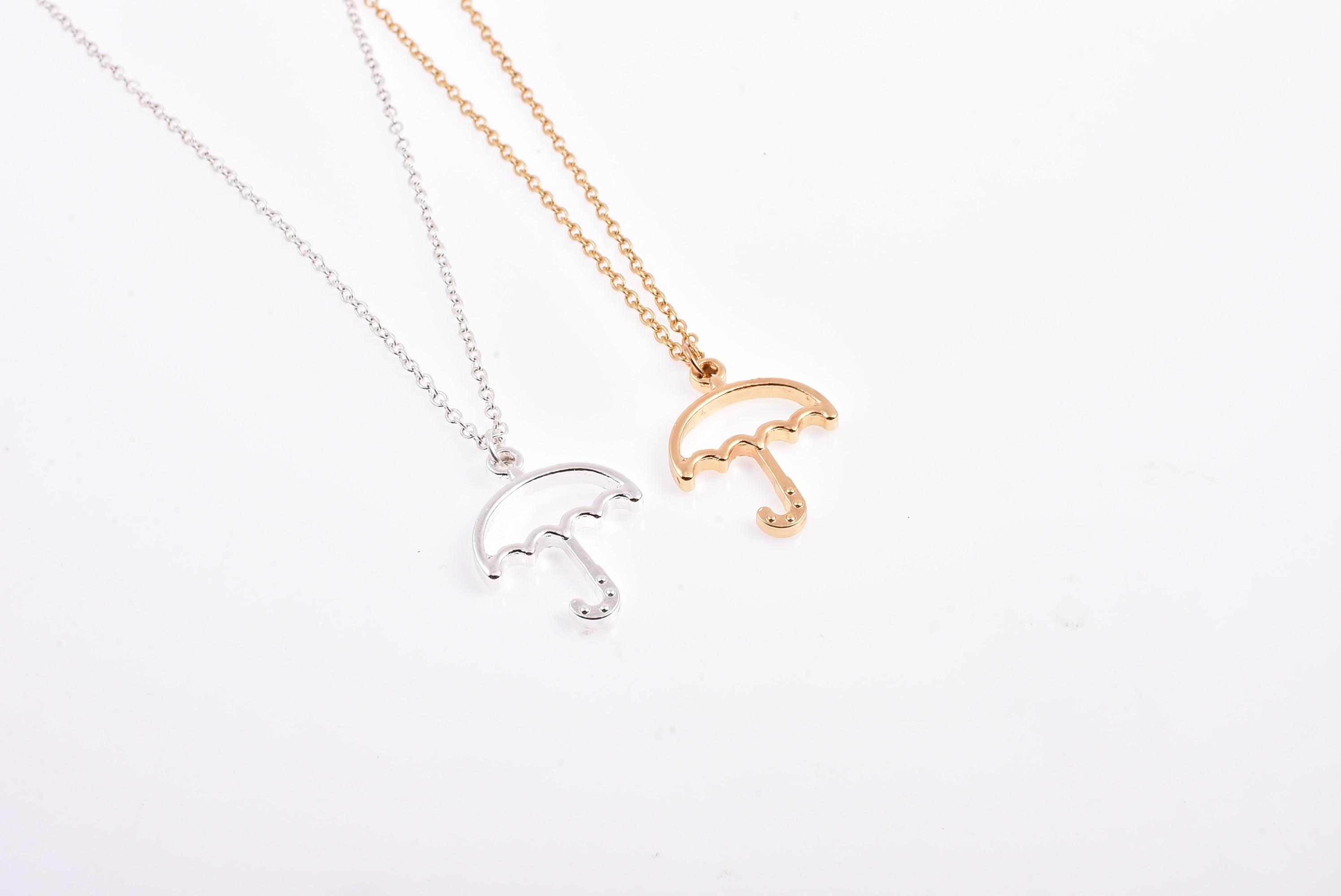 Полый зонтик, Очаровательное ожерелье от солнца и дождя, ожерелье Brolly, ювелирные изделия для подарка