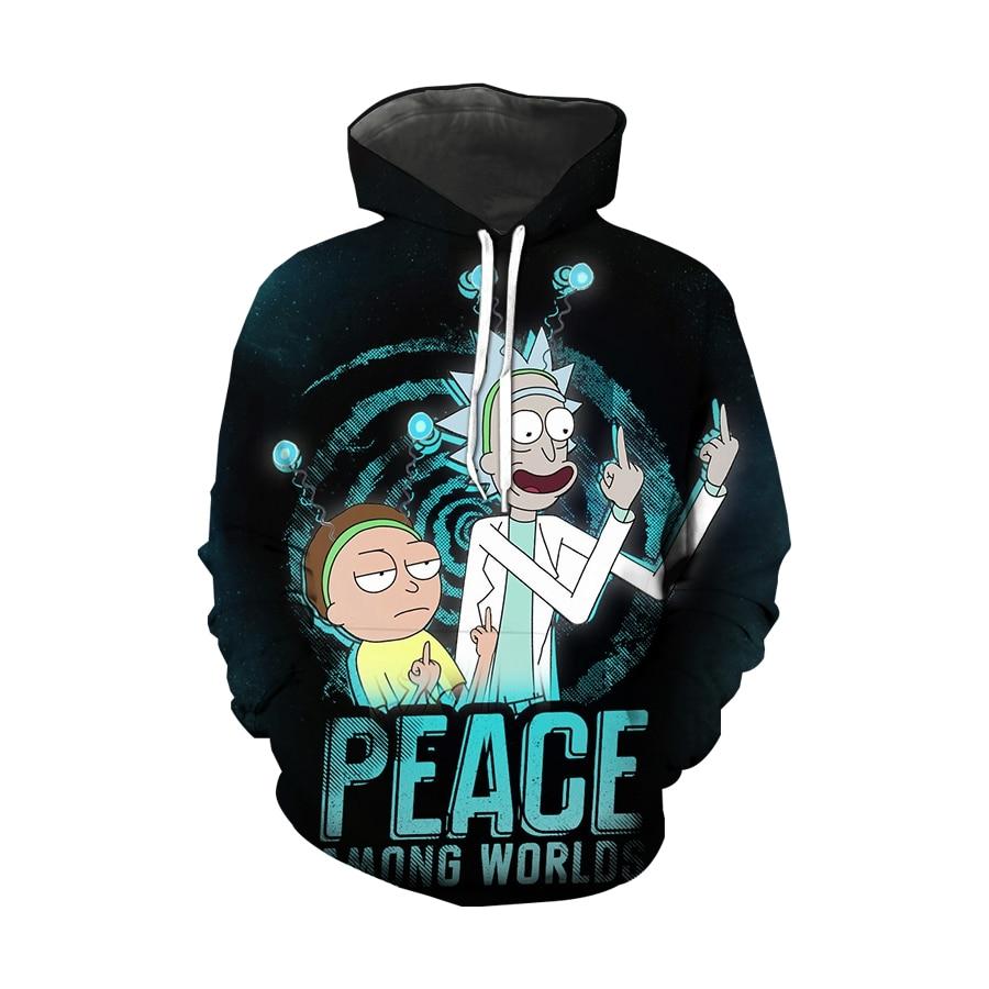 New Design Ri ck and mo rty Mens Hoodies 3d Print Funny Hoodie Man Fashion Rick morty Casual Hoodie Male Sweatshirt