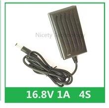16,8 в 1A литий ионный аккумулятор зарядное устройство для отвертки 14,4 В 4 серии 18650 литиевая батарея настенное зарядное устройство DC 5,5 мм * 2,1 мм