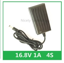 "16.8V 1A ליתיום ליתיום סוללה מטען עבור מברג 14.4V 4 סדרת 18650 ליתיום סוללה מטען קיר DC 5.5 מ""מ * 2.1MM"