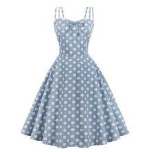 MIXINNI 50s 60s Printed Vintage Dot Dress Slim Waist Vestidos Mujer Plus Size Women Elegant Party Woman Clothes 1637