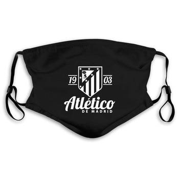 Atletico De Madrid Spain Soccerer Futbol Camiseta La Liga Printed Pure Men Mouth Mask Women's Kid PM2.5
