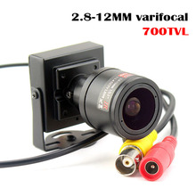 700TVL varifocal עדשת מיני מצלמה 2.8 12mm עדשה מתכווננת עבור אבטחת מעקבים טלוויזיה במעגל סגור מצלמה עקיפת רכב
