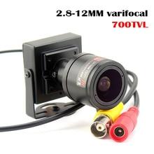 700TVL varifocal lens mini kamera 2.8 12mm ayarlanabilir Lens güvenlik cctv güvenlik kamerası araba sollama
