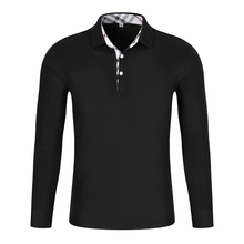 LiSENBAO High Quality Men Polo Shirt Mens Long Sleeve Solid Shirts Camisa Polos Masculina Casual cotton Plus size S-3XL Top