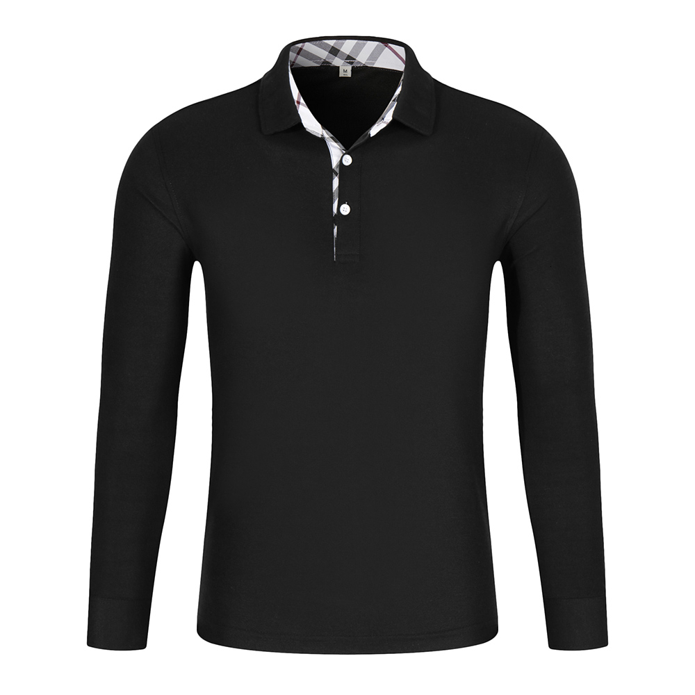 LiSENBAO High Quality Men   Polo   Shirt Mens Long Sleeve Solid   Polo   Shirts Camisa   Polos   Masculina Casual cotton Plus size S-3XL Top