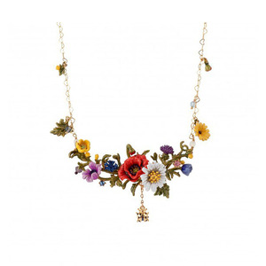Luxury Exaggerated Flower Neck