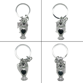Football Champion Model 3.5cm Height Metal Trophy Keychain France Germany Soccer Fans Gift Souvenirs Collectibles