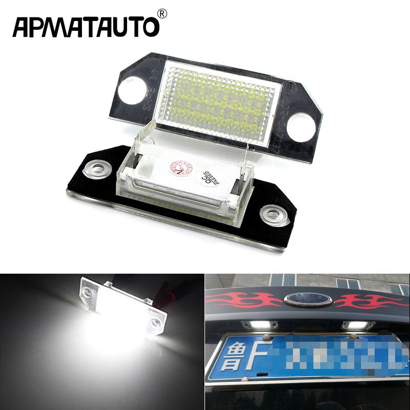 Lampe de plaque d'immatriculation de voiture à LED, lumière blanche 6W 24, DC12V, pour Ford Focus 2 c-max, 2 pièces
