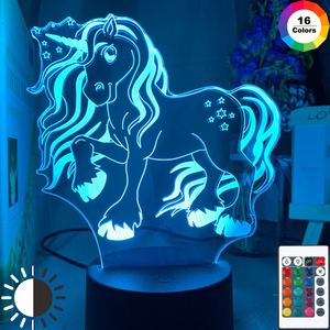 3d Lamp Unicorn Baby Night Light Color Changing Usb Battery Nightlight for Kids Child Girl Bedroom Decor Unicorn Night Lamp Gift(China)