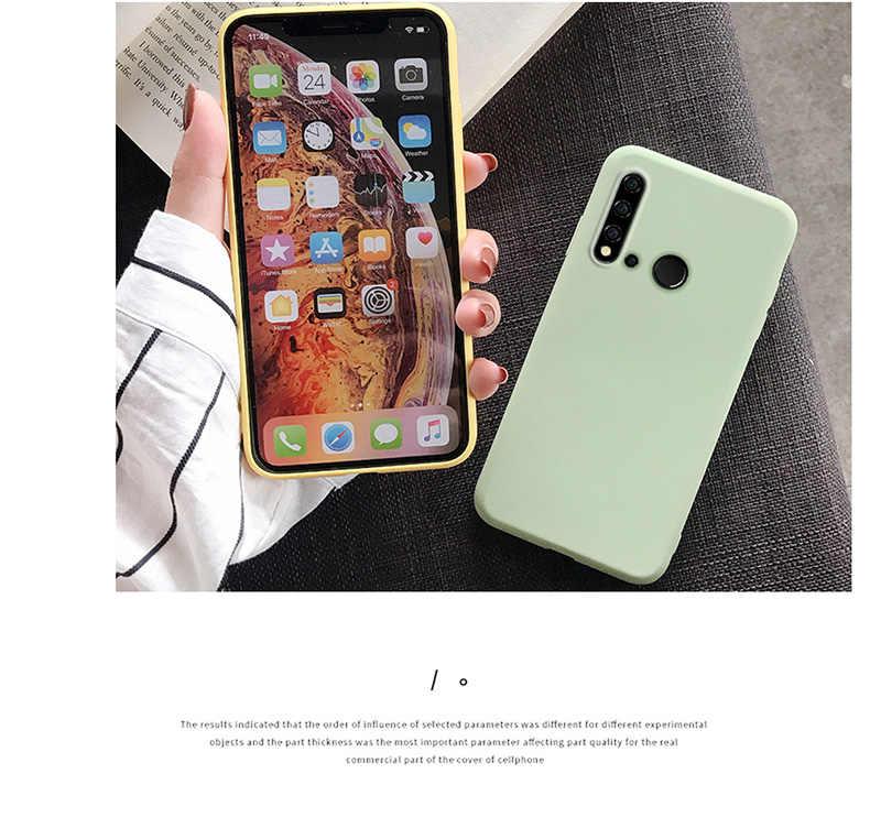 Color caramelo para Huawei P inteligente Y9 Y6 Y7 Pro primer Y7 2019 P30 Pro P20 Lite amigo 20 lite 20X en Honor de 8X 8C 10 7A 7C cubierta